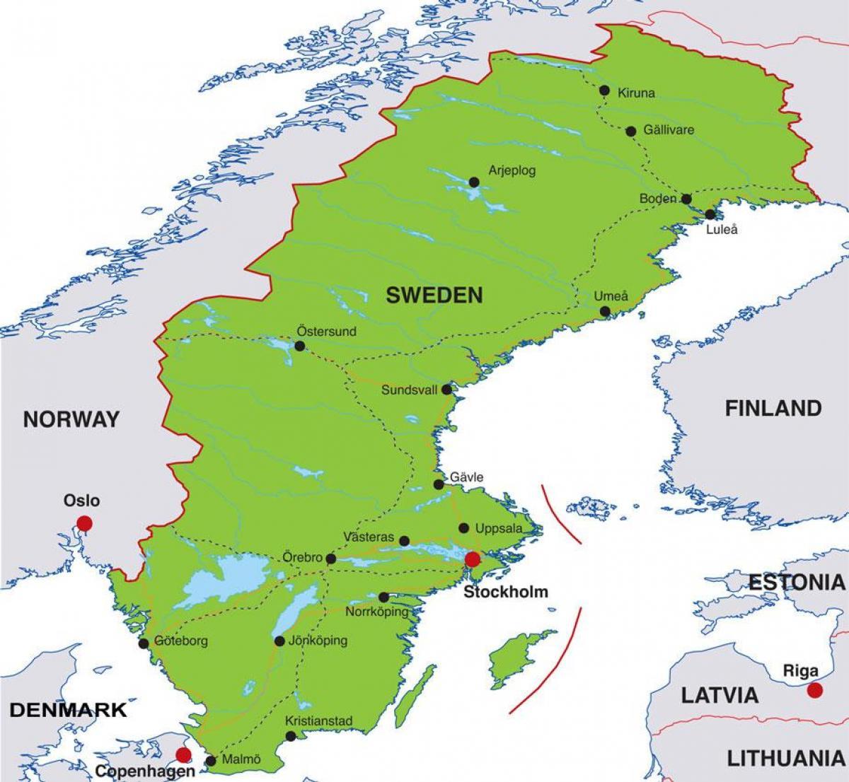Paakaupunki Ruotsi Kartta Paakaupunki Ruotsi Kartta